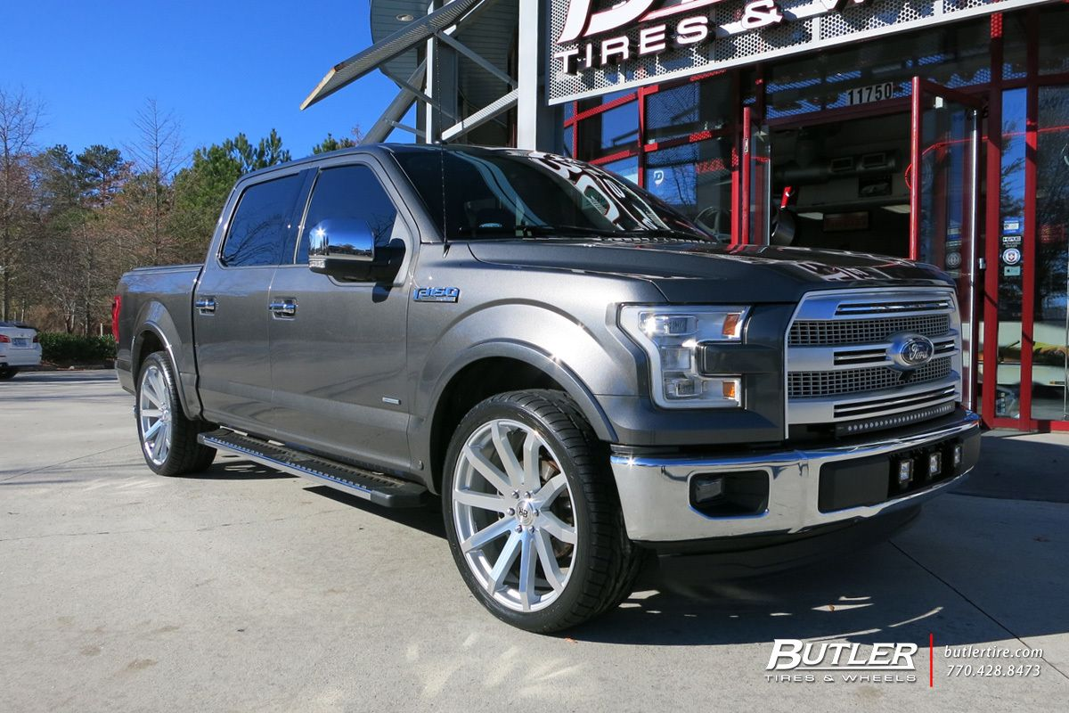 ford f150 with 24in black rhino traverse wheels butlertire ford f150 - Ford F150 Wheels