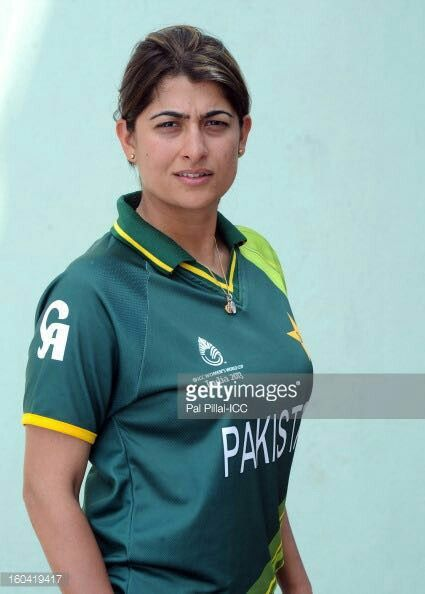 Sana Mir Pakistani Female Cricketer Athletic Women Pakistan Cricket Team Sports Women