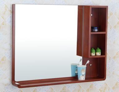 Waterproof Bathroom Mirror Solid Wood Storage Mirror Bathroom Cabinet Shelf Wood Storage Cabinets Solid Wood Storage Wood Storage