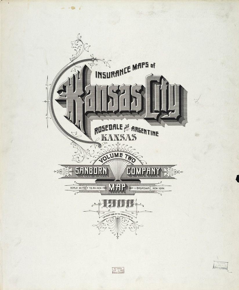 Sanborn Insurance Map Kansas KANSAS CITY Typography - The old map company