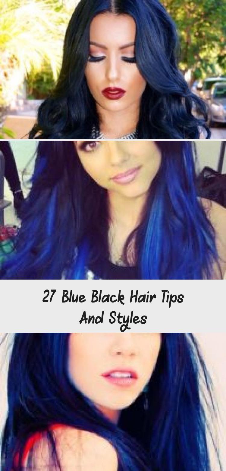 Blue Black Hair Tips And Styles Dark Blue hair Dye