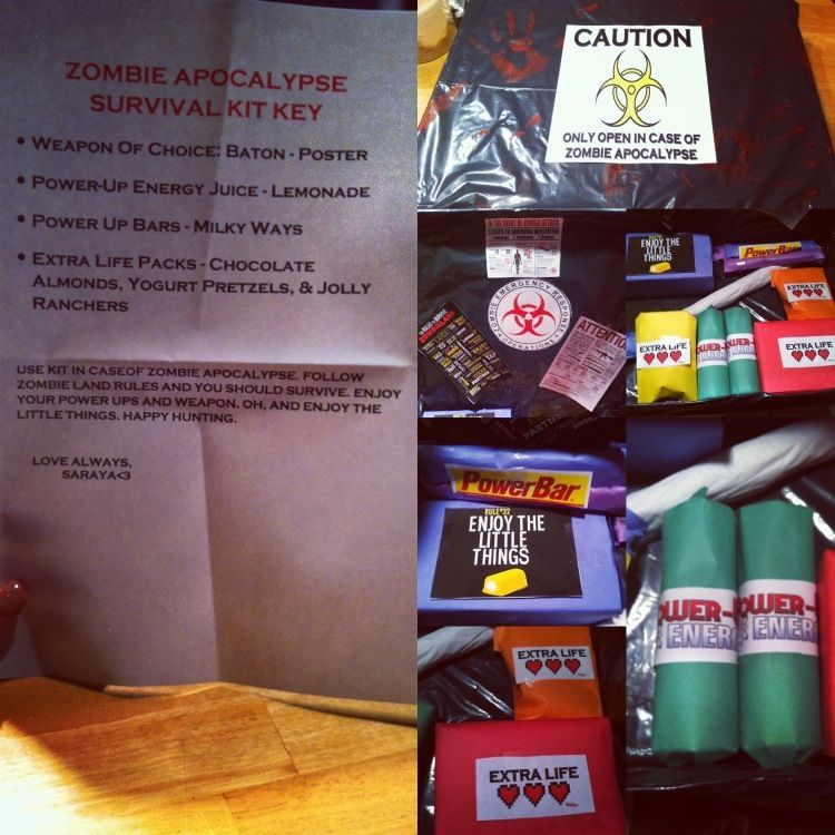 DIY Zombie Survival Kit Gift For Those Doomsday Preppers And Zombie Lovers In Your Life. Gave