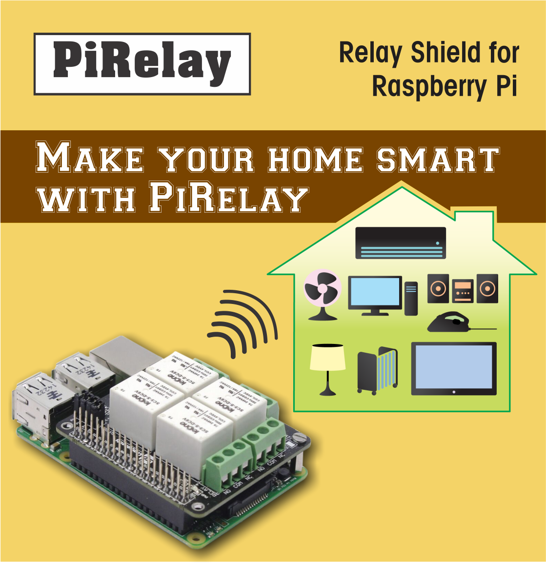PiRelay - Relay Shield for Raspberry Pi | PiRelay | Raspberry, Home