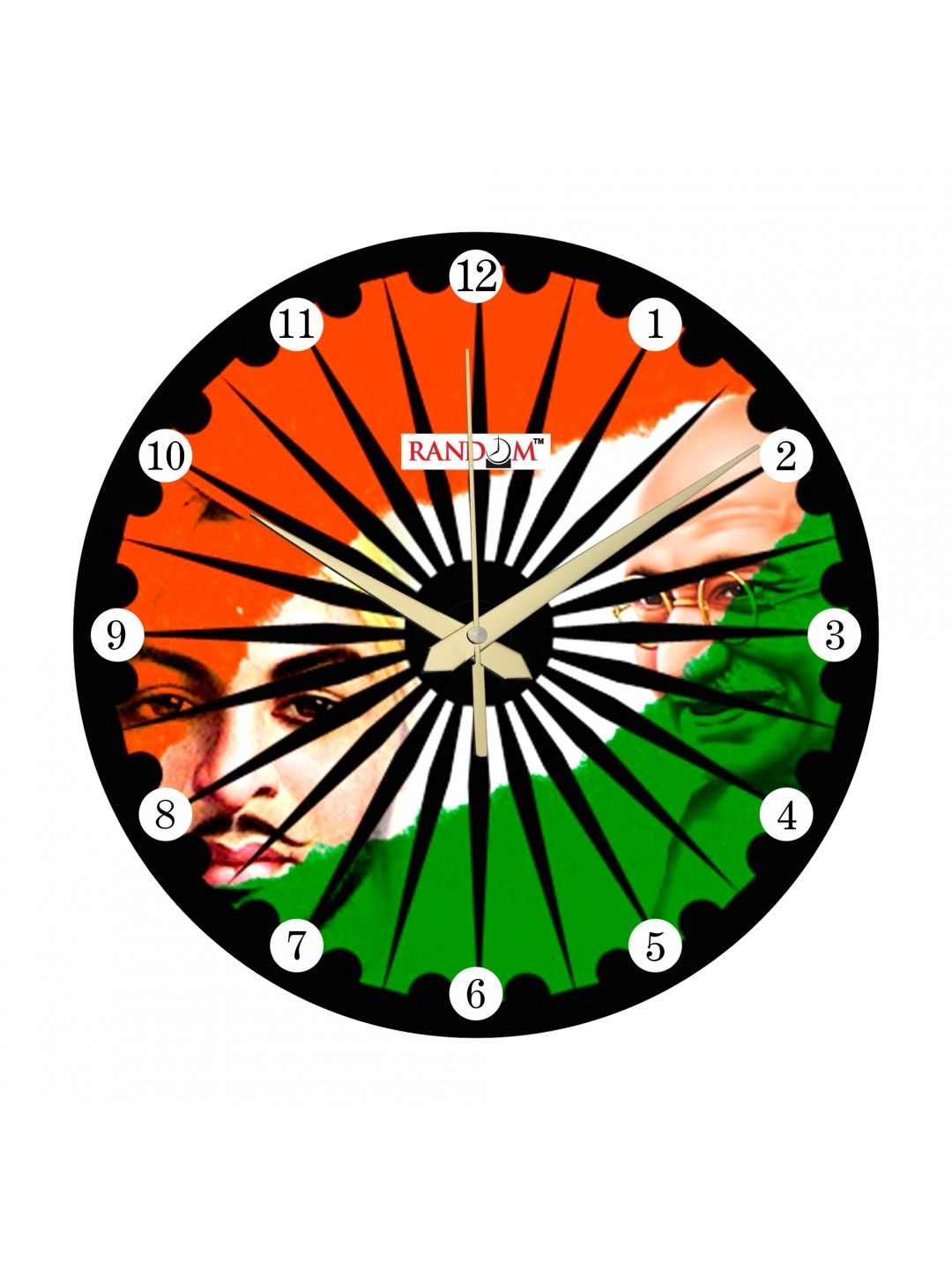 Azadi ka tiranga analog wall clock buy online presents print azadi ka tiranga analog wall clock buy online presents print series designer wall clocks with patriotrism amipublicfo Image collections