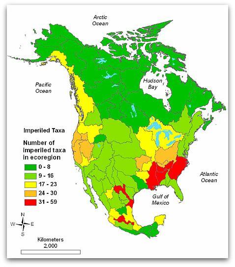 Image result for biodiversity map united states MAPS Pinterest
