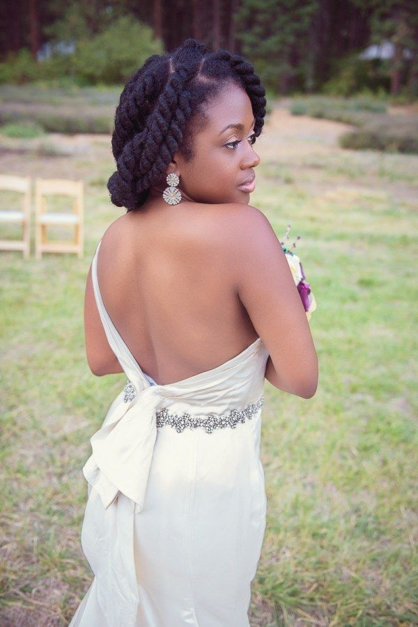 Black Natural Hairstyles For A Wedding : 7 superb natural hair bridal hairstyles for summer weddings