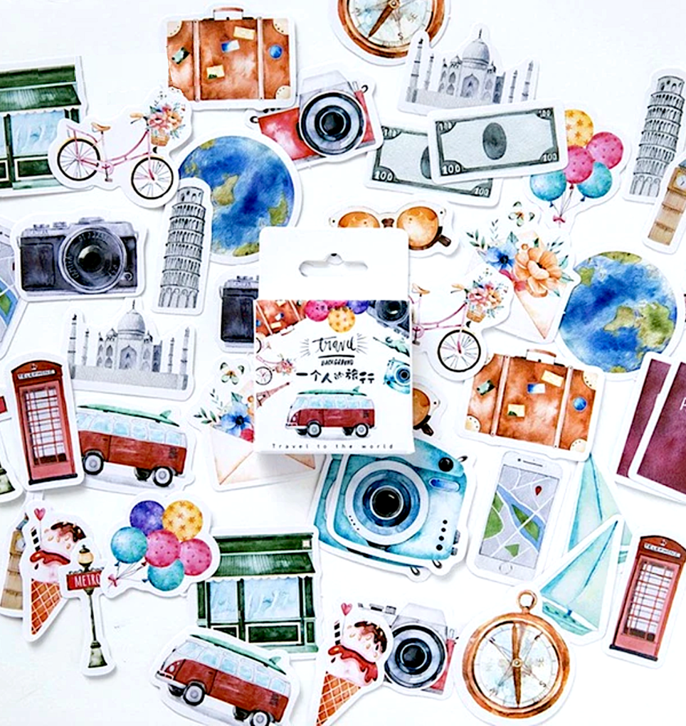 Travel Stamp Forest Sealing Decal Diary Scrapbook Albums Sticker Decor LD