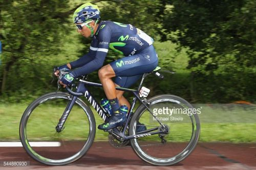 CHERBOURG, FRANCE - JULY 03: Nairo Quintana of Colombia and... #lospino: CHERBOURG, FRANCE - JULY 03: Nairo Quintana of Colombia… #lospino
