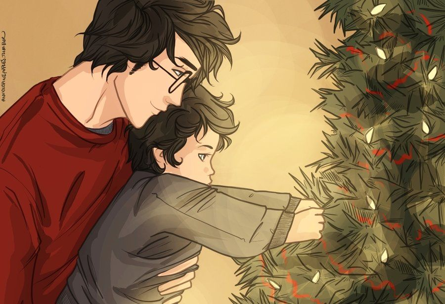 harry's first christmas by anxiouspineapples on deviantART