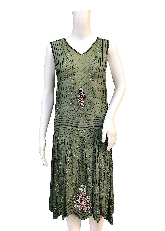 1920s Beaded Dress Cotton Muslin Etsy Beadeddress Stylish Dresses Beaded Flapper Dress Dresses [ 3000 x 2143 Pixel ]