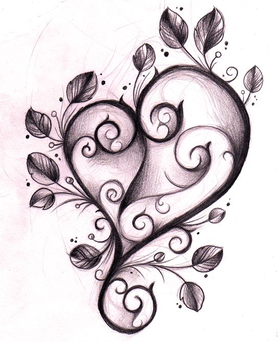 Heart tattoo design sketch by on for Heartbeat design