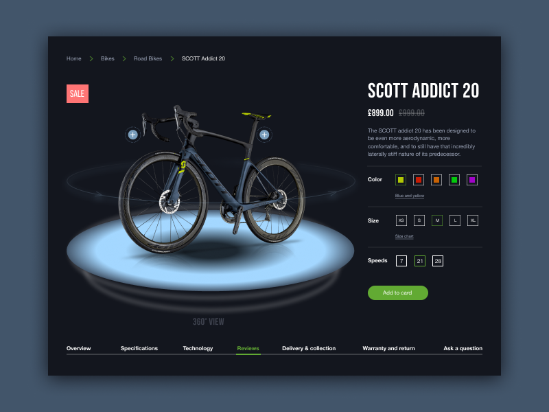 Bike Store Scott Website Concept Bike Store Bike Webpage Design