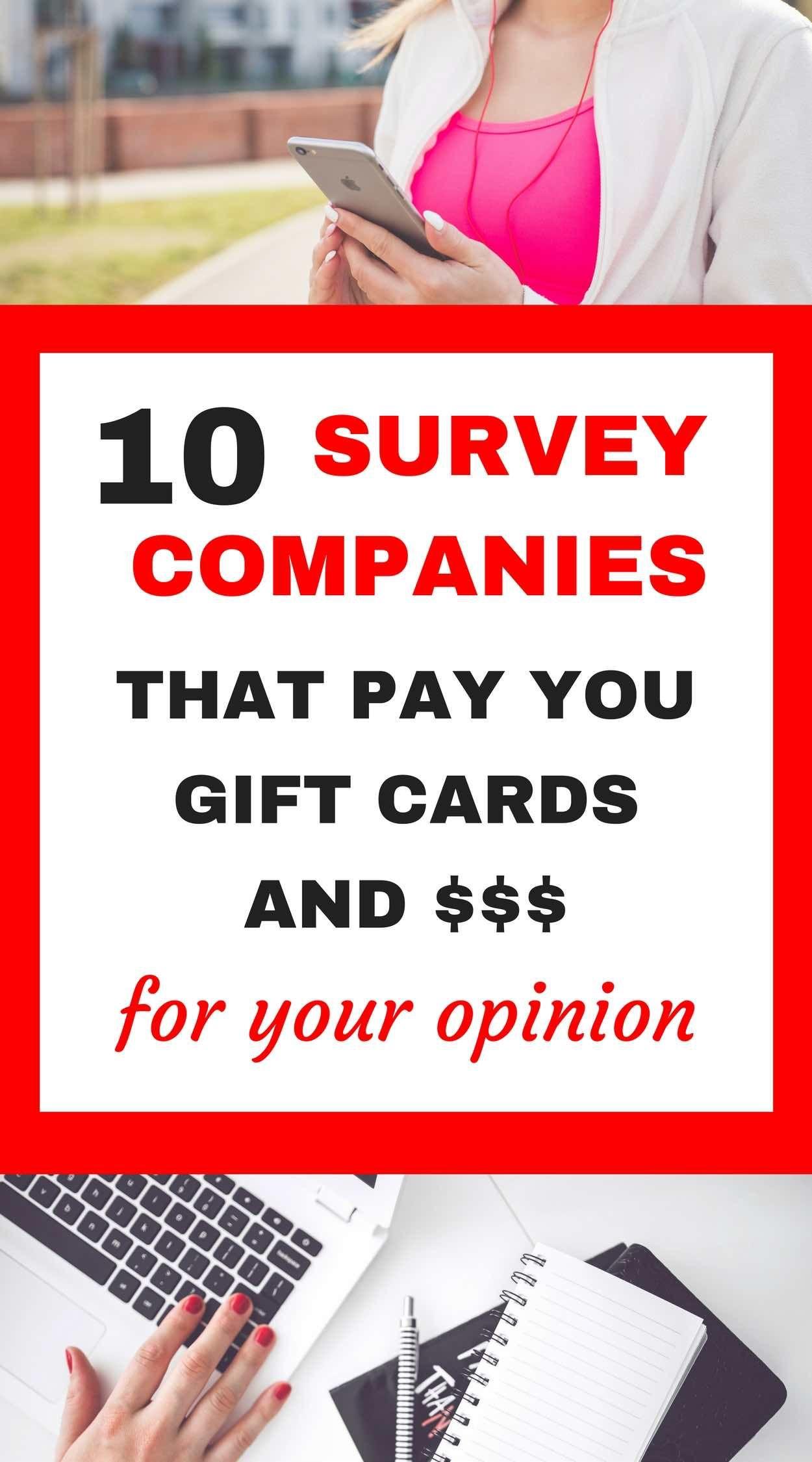 surveys for gift cards legit