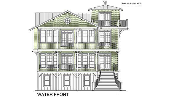 Coastal Home Plans - Tennessee Reef Beach house plans Pinterest