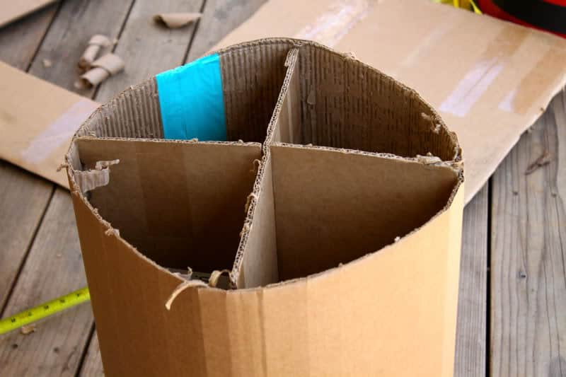 How To Make A Paper Mache Table For Under 20 Paper Mache Cardboard Paper Cardboard Frame