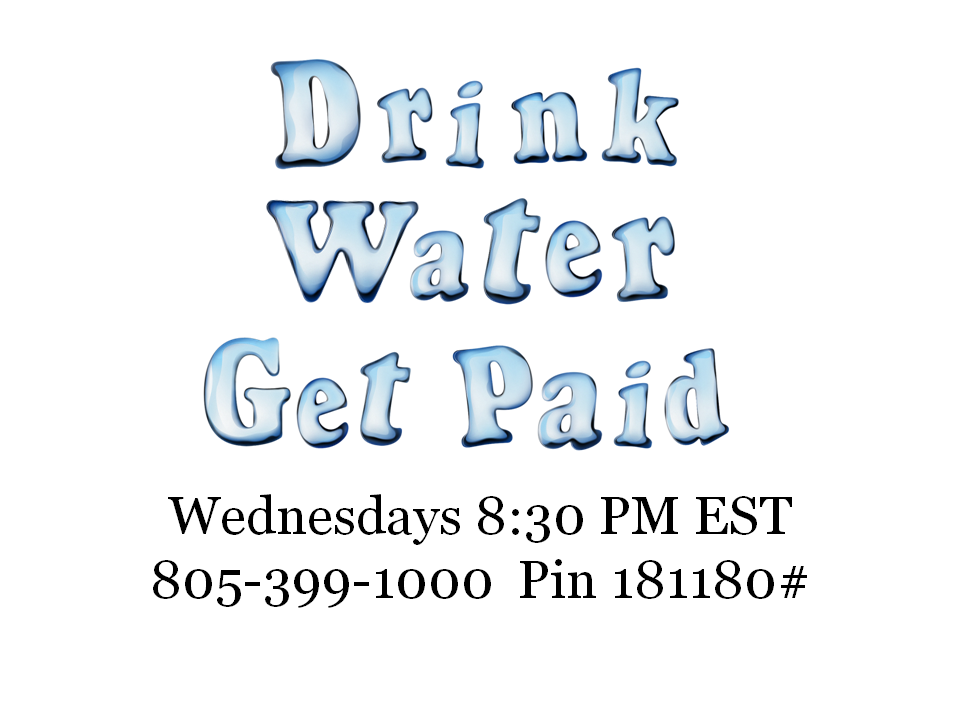 """Drink Water Get Paid!  Happy Holidays!!! Join Us tonight and here How to """"Drink Water and Get Paid!"""" With News Years RESOLUTIONS around the corner we are going to have some amazing testimonials to share with you. See How simple it is to tighten up your body and RECLAIM YOUR HEALTH!!!   https://www.facebook.com/home.php?ref=home#!/DrinkWaterGetPaid"""