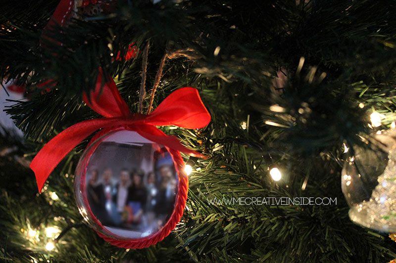 Palline di Natale fai da te con foto mecreativeinside idee facili piccoli regali
