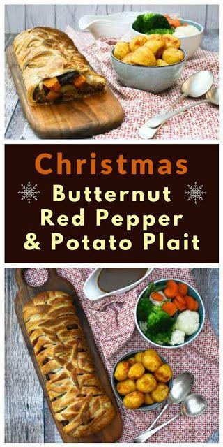 Butternut Red Pepper Potato Puff Pastry Plait