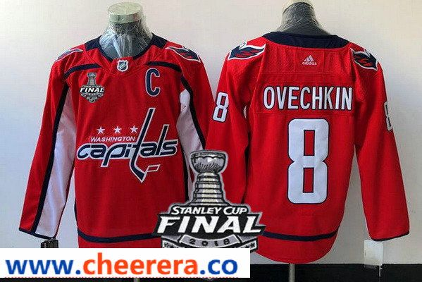 09c9df6f5 Washington Capitals  8 Alex Ovechkin Red Stitched Adidas NHL Home Men s  Jersey with 2018 Stanley Cup Final Patch