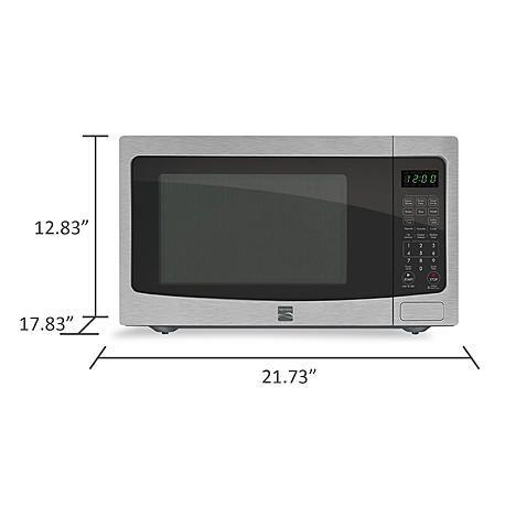 Kenmore 1 6 Cu Ft Countertop Microwave Stainless Steel Sears