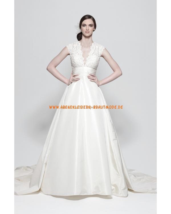 Sexy moderne 2013 Brautkleider aus Satin A-Linie mit Spitze ...