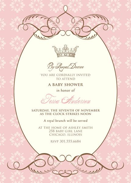 Free Baby Shower Templates By Royal Decree