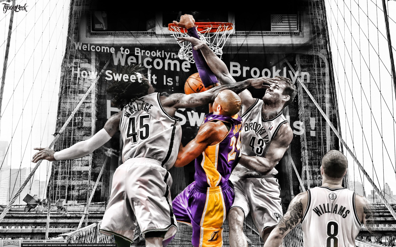 Kobe Dunks On Brooklyn Nba Wallpaper Kobe Bryant Wallpaper Kobe Bryant Pictures Kobe Bryant Dunk