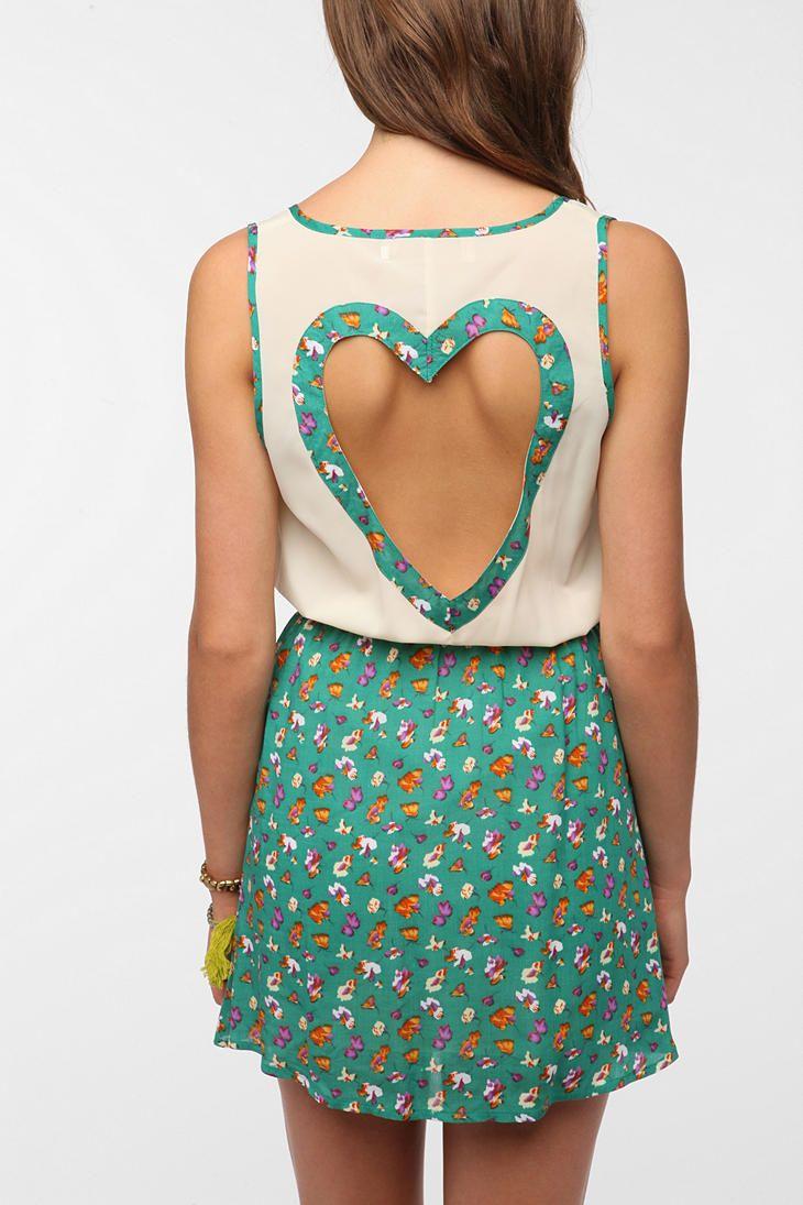 Reverse heartback cutout dress i want pinterest urban