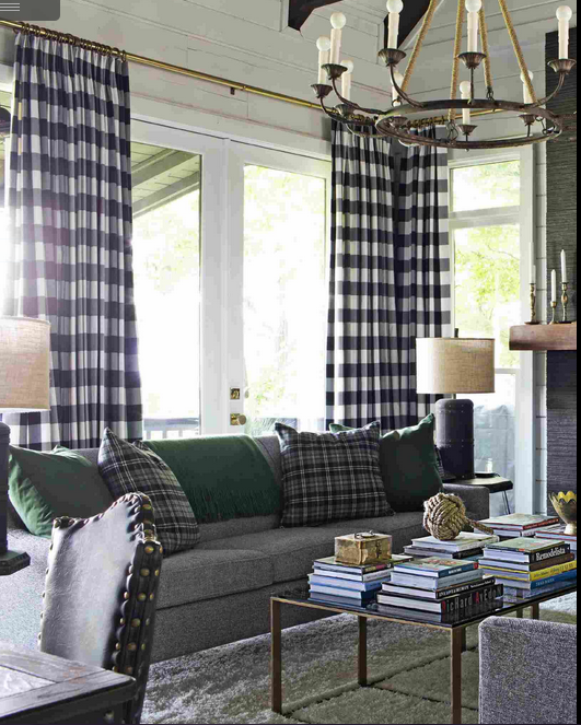 Brian Patrick Flynn Living Room Ikea Couch Berta Ruta Fabric Curtains MakeoversCountry