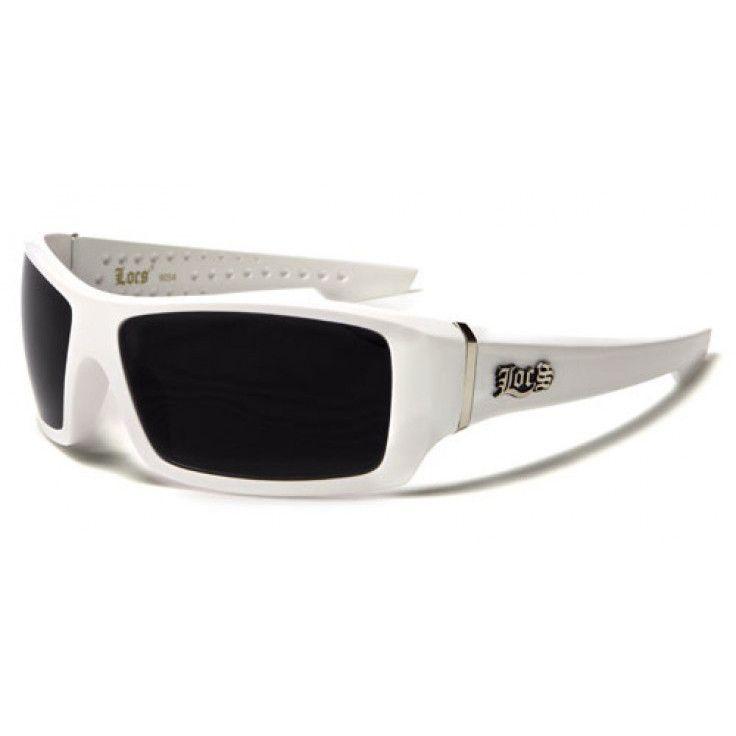 Locs Mens White Frame Dark Lens Rectangular Sunglasses | Sunglasses ...