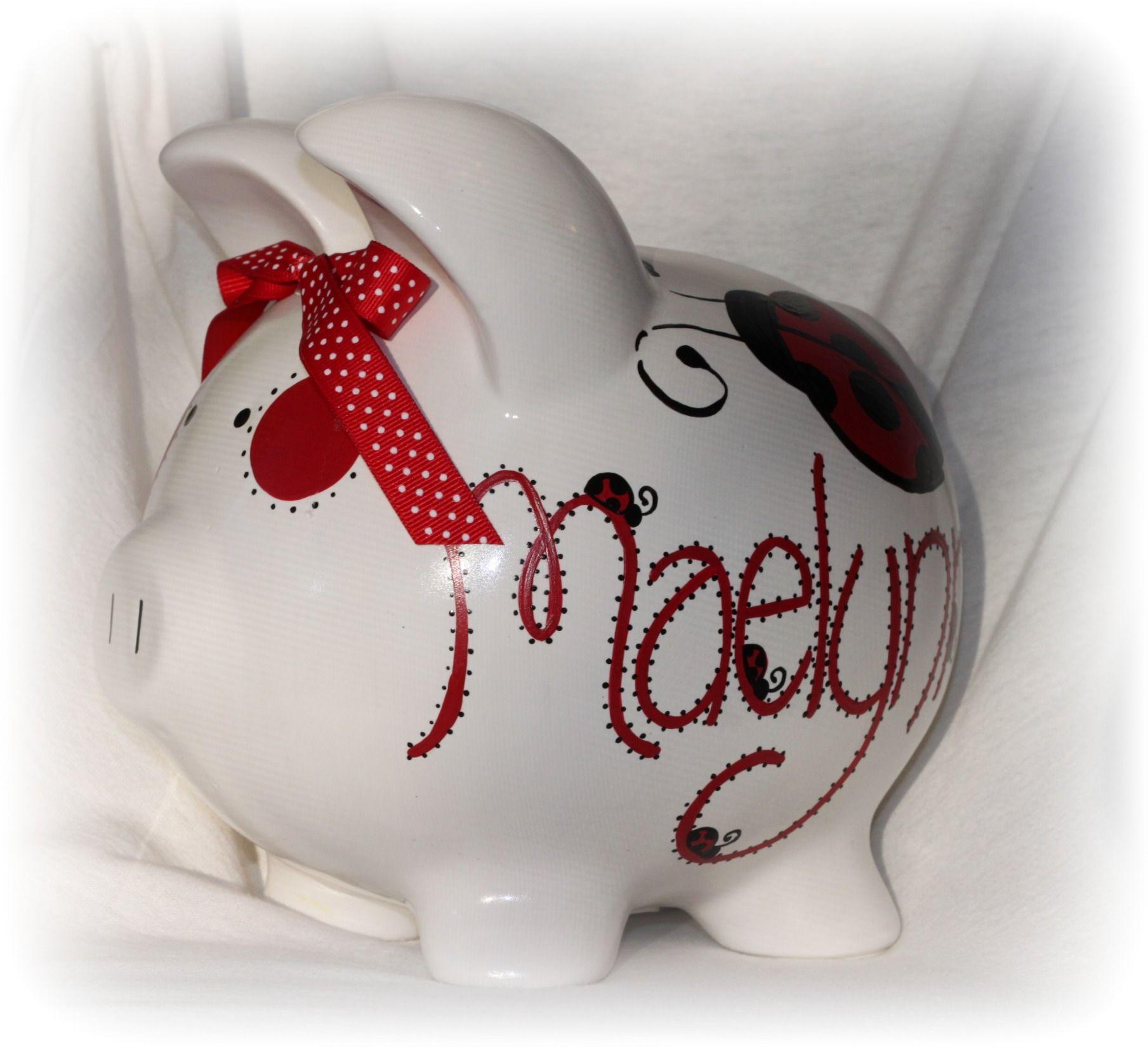 ladybug piggy bank  kids room  pinterest  ladybugs and piggy bank - piggy bank · ladybug piggy bank