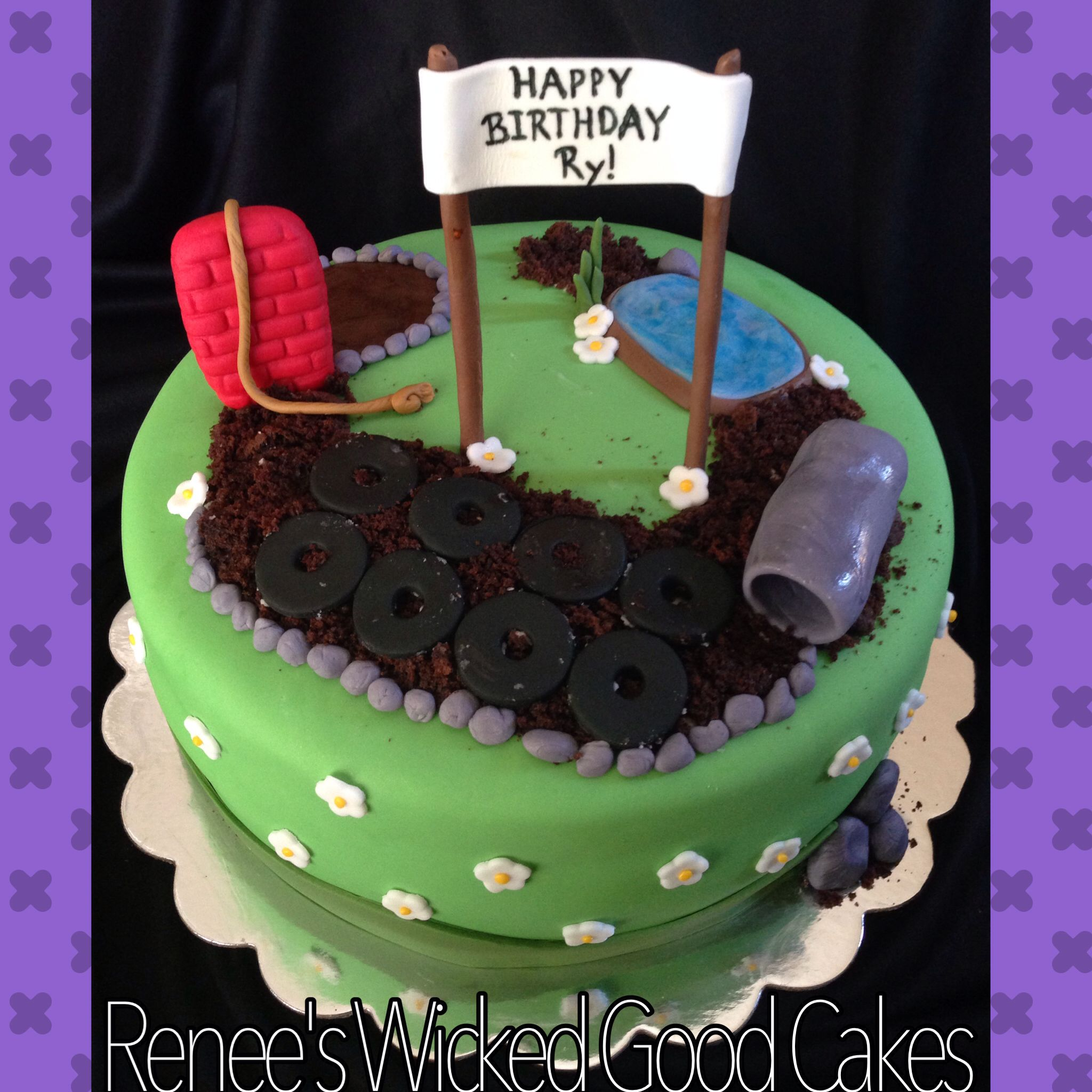 Obstacle course birthday cake! Renee\'s WICKED GOOD Cakes - like us ...