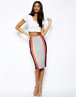 9e0ec9eedf Pencil cut skirt | Fashion | Color blocking outfits, Pencil cut ...