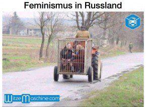 Feminismus in Russland - Frauen im Käfig - Funny Russian Fail - Russenwitze -