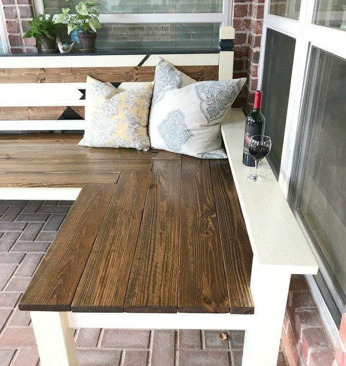 l shaped diy backyard bench just 130 outdoor diy inspiration rh pinterest co uk