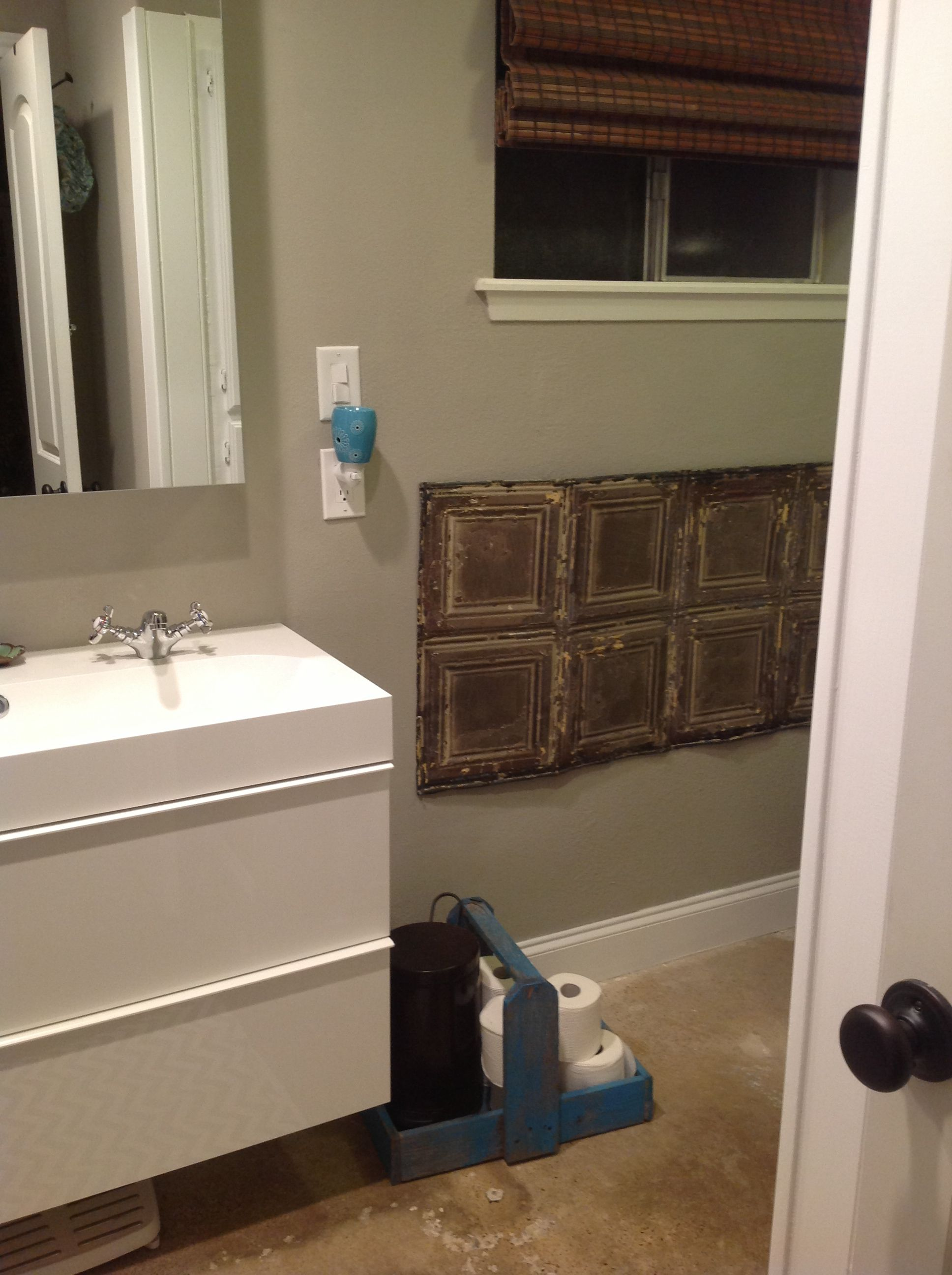 Small Master Bathroom Redo Floating Vanity With Trough