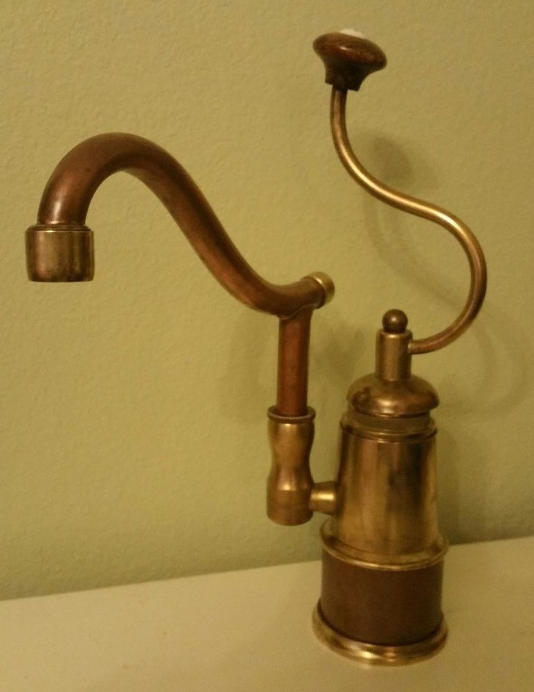 Herbeau DE DION KITCHEN FAUCET Single Lever Mixer Copper and Brass ...