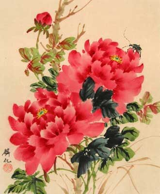 Chinese Flower Paintings 꽃 그리기 모란 꽃