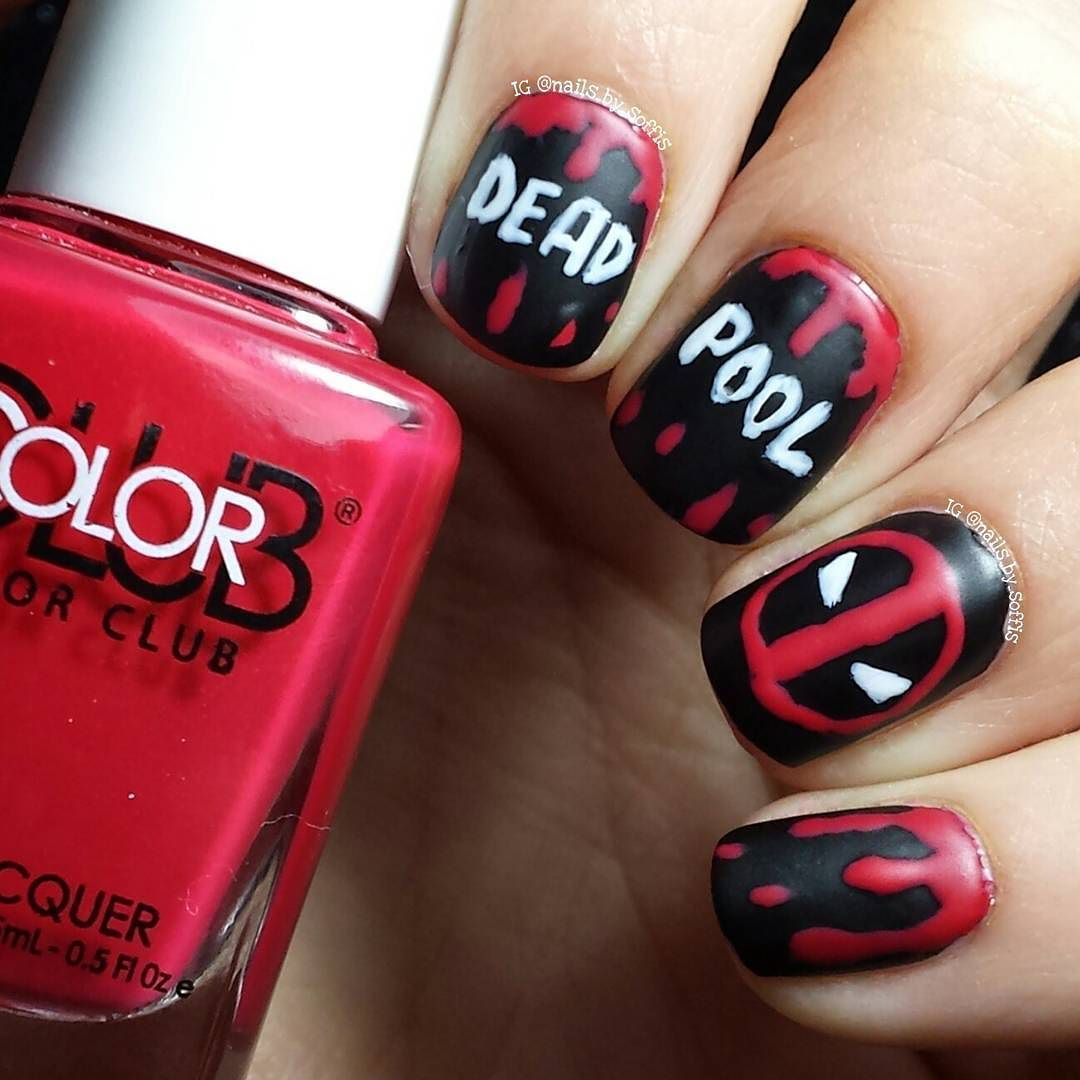 DEADPOOL nails! Today is the day! Today I'm going to see Deadpool - DEADPOOL Nails! Today Is The Day! Today I'm Going To See Deadpool To