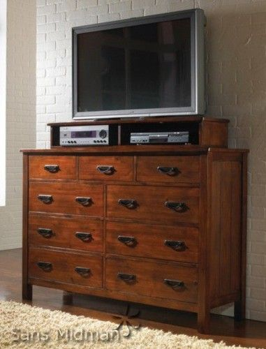 $490 Craftsman Media Chest Cabinet Or Dresser With Jewelry Box Convertible  New | EBay