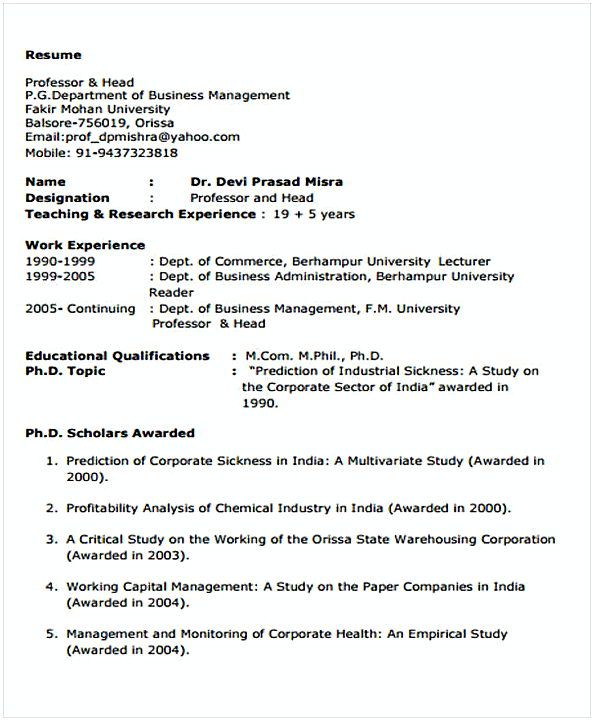 Business Resume Template Example  Change Management Resume  What