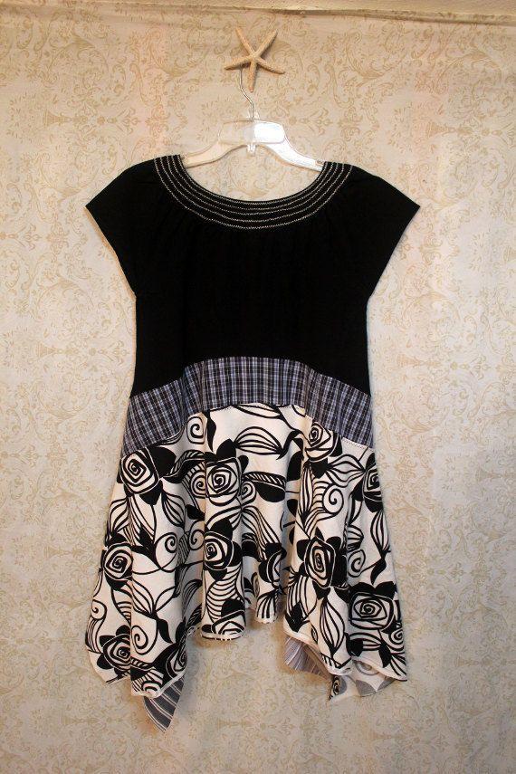 Awesome Dresses Upcycled Boho de renacimiento las mujeres de punto ...
