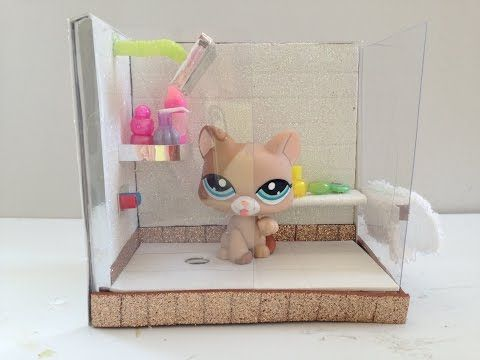 How To Make A Lps Shower Doll Furniture Diy Lps Diy Accessories Lps Crafts