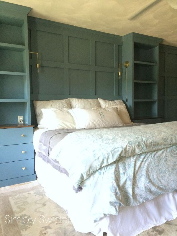 diy master bedroom built ins, bedroom ideas, storage ideas