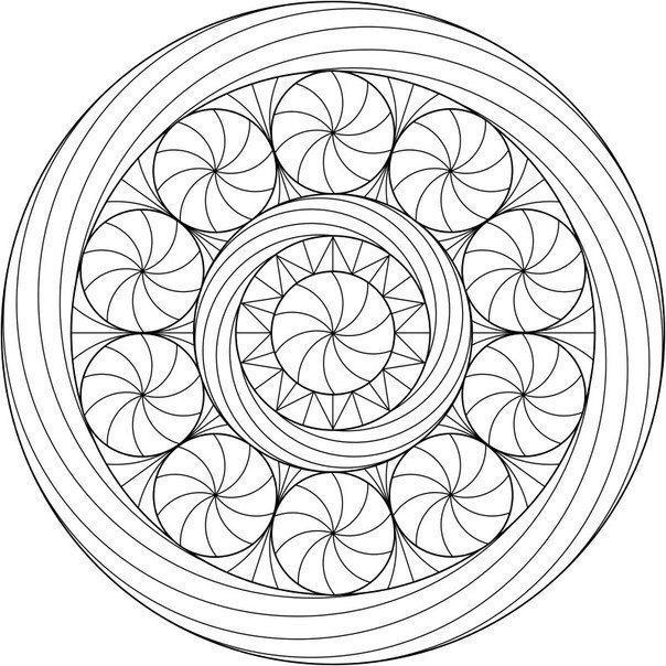 Раскраска антистресс. | Mandala coloring pages, Mandala ...
