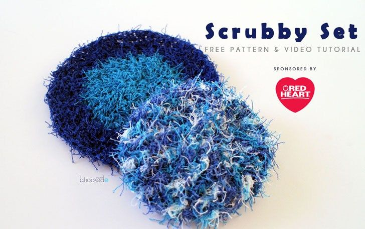 Crochet Scrubby Set - Free Pattern & Tutorial