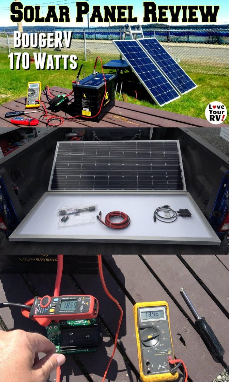 Bougerv 170 Watt Solar Panel Review In 2020 Rv Solar Power Rv Solar Rv Solar Power System