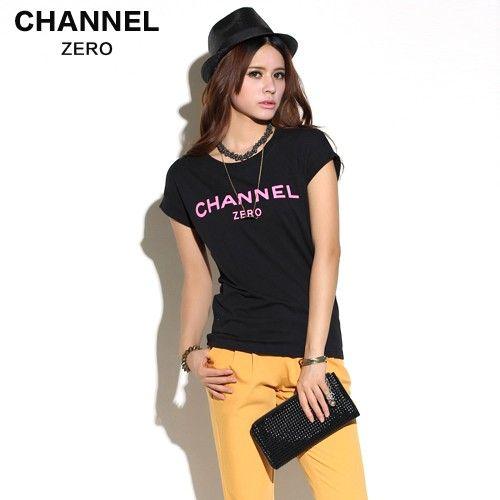 Black Channel Zero Tee With Pink Ink - FixShippingFee- - TopBuy.com.au