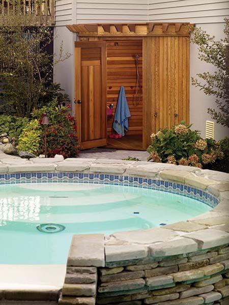 15 Outdoor Shower Designs Modern Backyard Ideas Backyard Pool Designs Outdoor Shower