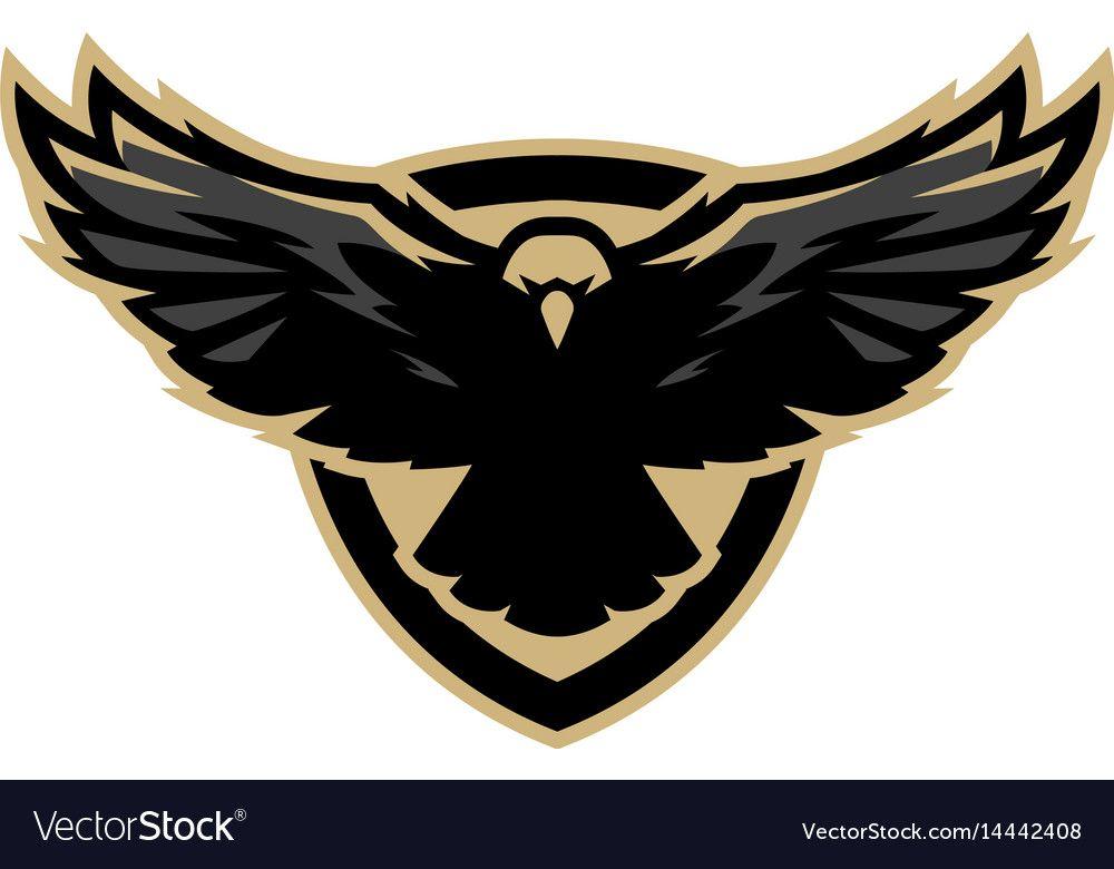 Eagle in flight logo symbol vector image on Pintura